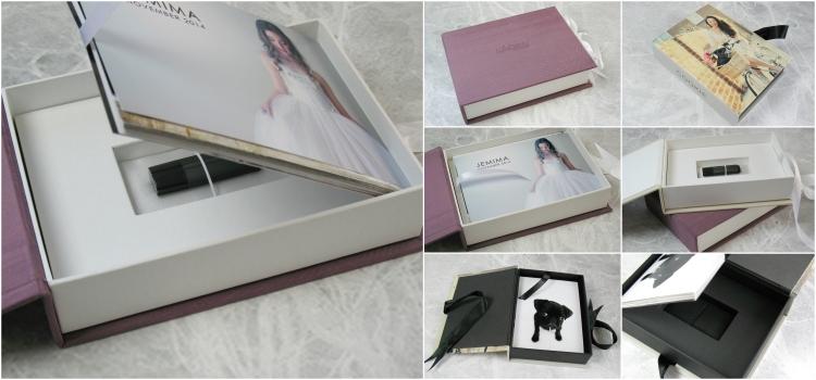 USB Print Box holds prints and a USB drive.