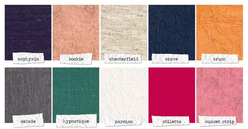 Finao Addiction Collection of fabrics.