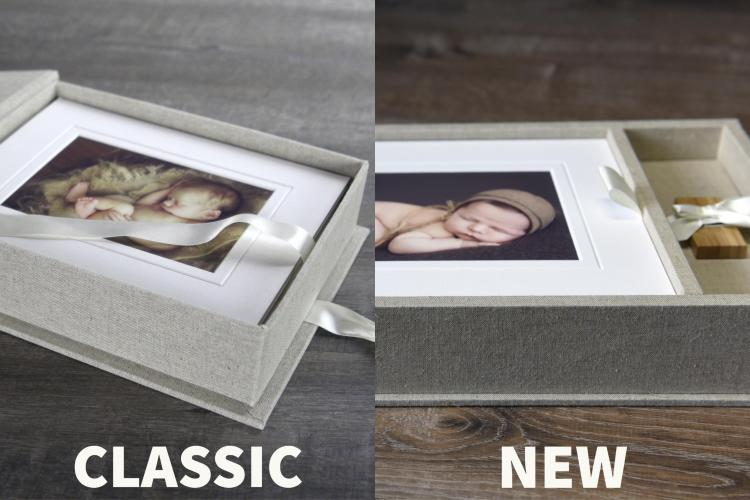 View the classic Portfolio Box, also affectionately known as the Sue Bryce Box, vs the new Folio Box by Seldex. Available in North America through Finao.