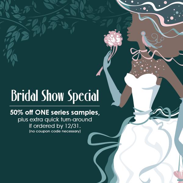 Wedding Show Sample Albums 50 percent off through 12-31-17.