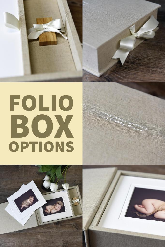 Best Folio Box for Professional Photographers. Includes slip-in mats, optional usb add-on, studio branding, beautiful linen, silk and buckram cover options and more.