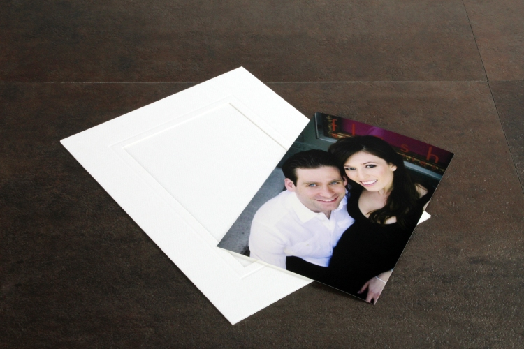 4x6 prints slip in to 6x8 mats for a smart look with The Madison by Finao.